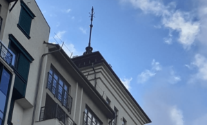 установка купола на здание